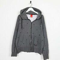 Vintage NIKE Small Logo Zip Up Hoodie Sweatshirt Grey   Medium M