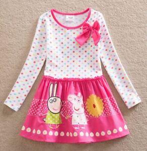 BNWT Girls New Peppa Princess Pig party dress birthday 2 to 6 Dance ballet Pink