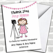 Thank You For Being Our Wedding Photographer Female Thank You Customised Card