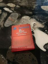 PS2 8mb Memory Card MagicGate, Official Sony Playstation 2 (Red)