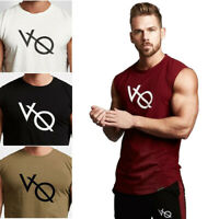 Gym Men Tank Tops Fitness Bodybuilding Muscle Workout Sleeveless T-Shirt Vest