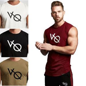 Gym Men Tank Tops Fitness Bodybuilding Muscle Workout Sleeveless T-Shirt Vest