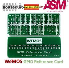 WEMOS GPIO Reference Card GPIO Board for Raspberry Pi
