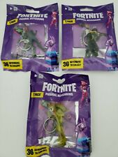 3 × Legendary Fortnite Figural Keychains: Dark Voyager, Rex & Fly Trap