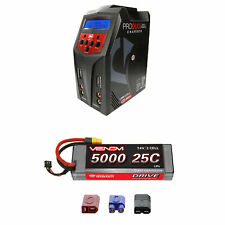 Venom 25C 2S 5000mAh 7.4V LiPo Battery with Pro Duo Charger Combo