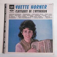"""33 tours YVETTE HORNER Disque LP 12"""" CLASSIQUES DE L'ACCORDEON - PATHE 40132"""