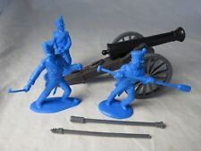 ALAMO MEXICAN HOWITZER WITH THREE MAN CREW in blue, 1/32, CLASSIC TOY SOLDIERS