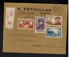 1940 Paris France Cover to Belfort # B97-B100 Complete Set K Fatoullah