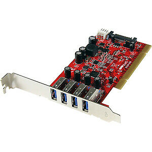 Startech 4 Port Pci Superspeed Usb 3.0 Adapter Card With Sata/Sp4 Power 4 T