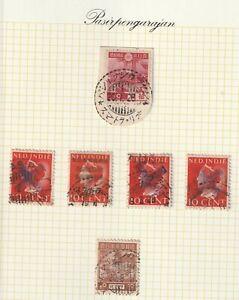 Dutch Indies Japan Occupation PASIRPENGARAAJAN on 6 vf used
