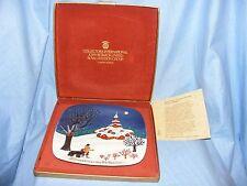 John Beswick Royal Doulton 1974 Navidad alrededor del mundo placa Bulgaria En Caja