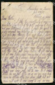 """1917 four page letter - from Son Jim """" somewhere in France """"  on active service"""