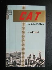 CIVIL AIR TRANSPORT CAT brochure DC-4 CHINA AIRLINES route map TAIWAN FLAG