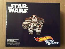 Star Wars SDCC 2018 Mattel Hot Wheels Battle Rollers Porg Millennium Falcon NIB