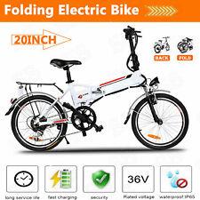 20'' Electric Bike Folding Bicycle City E-Bike Shimano Cycling 36V LI- Battery