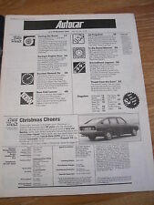 AUTOCAR MAG 15 DEC 1979 TURBOCHARGING TOURBO CHARGED CARS REVIEWED JET PROPELLED
