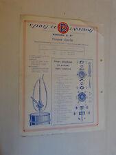 prospectus catalogue : pompes demi rotatives et vide fut  RENSON et Cie