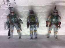 3 Vintage Star Wars Boba Fett Action Figures 1977,96,96