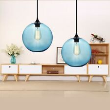 Kitchen Chandelier Lighting Blue Glass Pendant Light Modern Home Ceiling Lamp