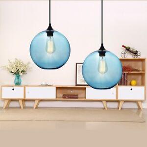 Kitchen Chandelier Lighting Blue Glass Pendant Light Modern Home Ceiling Lamp