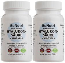 SPARPACK 2x Hyaluronsäure 300 mg 500-700 kDa 100 mg Aloe Vera 120 vegane Kapseln