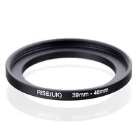 RISE(UK) 39mm-46mm 39-46 mm 39 to 46 Step Up Ring Filter Adapter black
