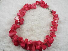 Dark Pink Coral Shell Necklace (B23)