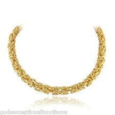 14K & BZ BYZANTINE NECKLACE 18 IN FREE BAND SZ 5 SZ 6 SZ 7 SZ 8 SZ 9  ITALY 100G