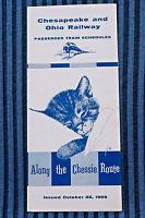 Cheapeake and Ohio Railway - Time Table - Oct. 25, 1959