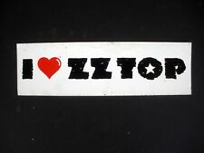 Rare Zz Top 1980'S Vintage Original Unused Music Bumper Sticker