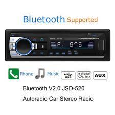 Car Stereo Radio Audio Bluetooth Mp3 Player 1 Din Usb Fm Aux In Media 4x60W Uk
