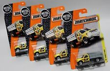 FORD F-350 * LOT OF 4 * 2016 MATCHBOX * YELLOW DUMP BED MBX CONSTRUCTION BOY