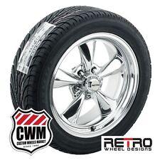 """17 inch 17x7""""/17x8"""" Retro Polished Wheels Rims Tires for Chevy Nova 68-79"""