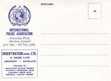 International Polica Association 1969 Aberdeen Conference Postcard Unused VGC