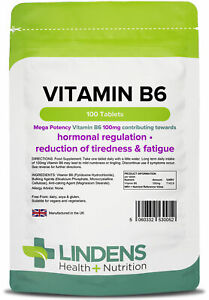 Vitamin B6 100mg - 100 Tablets - [Lindens 0052]