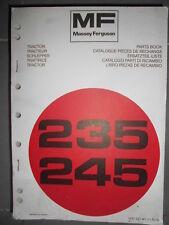 Massey Ferguson tracteur 235 245 : catalogue pièces 1976