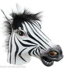 Maschere bianchi in gomma per carnevale e teatro, a tema degli Animali e Natura