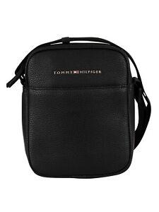 Tommy Hilfiger Men's Essential Crossbody Bag, Black