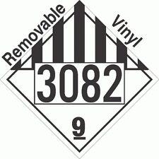 Miscellaneous Dangerous Goods Class 9 UN3082 Removable VinylPLACARD (PACK OF 50)