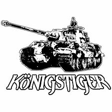 Konigstiger King Tiger II Panzer Tank SS Battle of Bulge World Tanks Vinyl Decal
