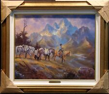 """Packing Out Of The High Country"" by Stefan Baumann Hand Signed Giclee on canvas"