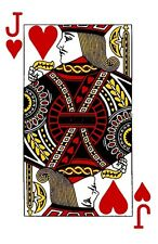 Jack Of Hearts Playing Card Iron On T Shirt Transfer