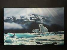 Majestic Polar Bears Gallery Wrapped Canvas Giclee Print Art Made in USA 10 X 16