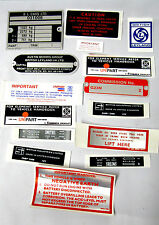 Mg Mgb Roadster Décalque Kit 1975-80 Autocollants plaques MGK2012 2GO8