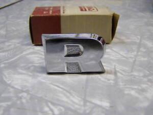 """NOS 1960 60 Ford Fairlane Galaxie Trunk Lock Cover """"R"""""""