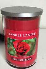 THE YANKEE CANDLE COMPANY LARGE TUMBLER CRIMSON ROSE 22 OZ. 85 HOURS NEW