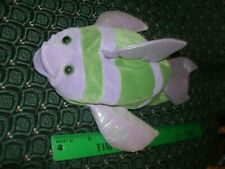 """Hand / Glove Puppet ~ STRIPED FISH ~ Plush ~ CALTOY ~ Approximately 11"""" ~ NEW"""