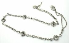 NEW LOIS HILL SILVER 2 CHAIN NECKLACE W/15 CHARMS ATTACHED.