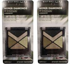 2 x MAYBELLINE 6.7g EYE STUDIO EYESHADOW HYPER DIAMONDS EMERALD DIAMONDS NEW