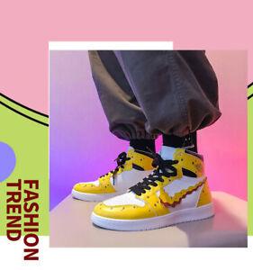 New AF1 SpongeBob Patrick Star Cartoon Party Sneakers high-top 3D Men's shoes